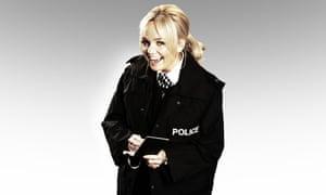 Emma Bunton as Emma Bunton in a police uniform.