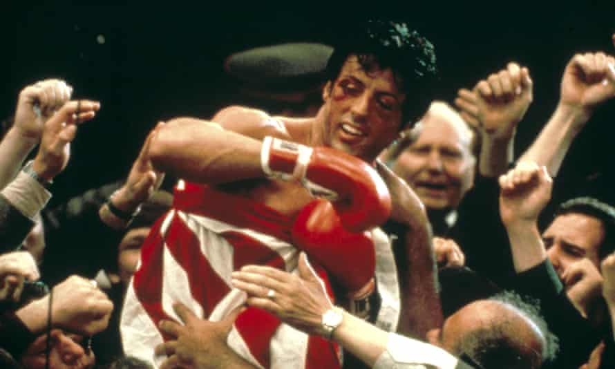 Sylvester Stallone as Rocky Balboa in the 1985 film Rocky IV.