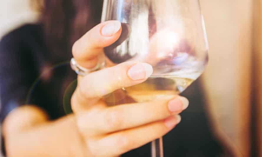 Happy Girl Toasting White Wine