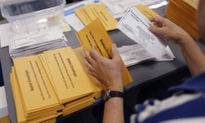 """Within days of the 2018 midterm elections, North Carolina announced it would not certify the results in the ninth congressional district as a result of """"ballot harvesters"""", people hired to illegally pick up absentee ballots."""