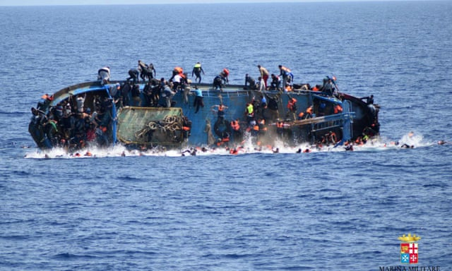 Image result for migrant boat sinks