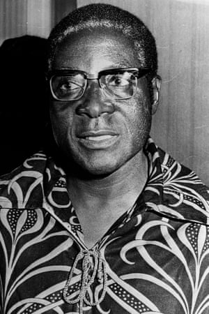 Robert Mugabe in 1976: leader of the Zimbabwean African National Union, one of the two armed liberation movements.