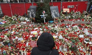 Tributes left to victims of the truck attack in Berlin.