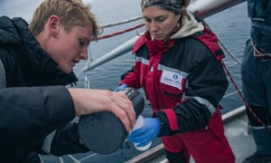 The scientists fear the thaw is releasing plastic trapped by the ice into the Arctic Ocean.
