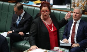 Melissa Price answers a question in parliament about an MP who appeared to announce funding before the grants program had even opened