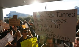 Protestors Rally Against Muslim Immigration Ban At San Francisco Int'l AirportSAN FRANCISCO, CA - JANUARY 28: Demonstrators hold signs during a rally against a ban on Muslim immigration at San Francisco International Airport on January 28, 2017 in San Francisco, California. President Donald Trump signed an executive order Friday that suspends entry of all refugees for 120 days, indefinitely suspends the entries of all Syrian refugees, as well as barring entries from seven predominantly Muslim countries from entering for 90 days. (Photo by Stephen Lam/Getty Images)