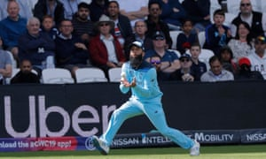 England's Moeen Ali takes the mouse to fire Kusal Perera from Chris Woakes bowling during the Group Stage match at the ICC Cricket 2019 World Cup between England and Sri Lanka at Headingley on June 21, 2019 in Leeds, England. (Photo by Tom Jenkins)