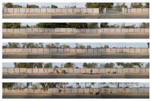A panoramic view of the wall at Bhopal.