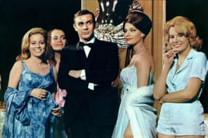 With an assortment of 'Bond girls' in Thunderball.