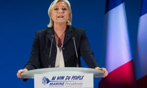 Marine Le Pen makes speech in northern France after first-round vote