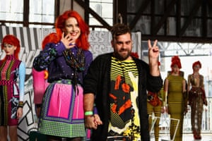 Anna Plunkett and Luke Sales (photographed at their Berserkergang spring/summer 2012 collection) have became friends when they met at a Sydney art college in 2002. As they explain in their new book (Thames & Hudson, $70), they were both outsiders, drawn together by their love of alternative music, fashion and culture. In 2005, they entered international fashion competition ITS#FOUR, flying to Italy to compete, under the name Romance Was Born, a phrase seen on a badge in Sydney's Chinatown. They were the only Australian finalists among 500 international entrants - and a brand was born.