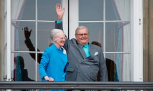 Queen Margrethe and Prince Henrik of Denmark at Amalienborg Palace in Copenhagen in 2016.