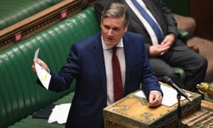 Labour leader Keir Starmer speaking during Prime Minister's Questions