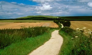 The Ridgeway long distance path near Bishopstone.