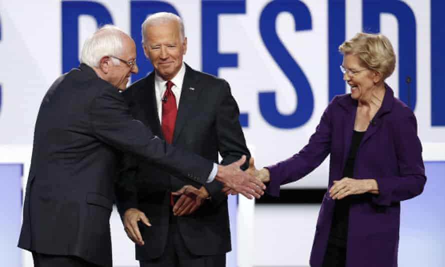Sanders and Warren build big war chests as Biden fundraising lags behind | US elections 2020 | The Guardian