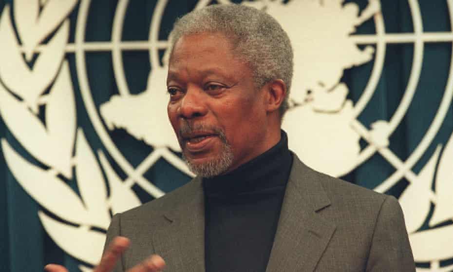 Form UN secretary general Kofi Annan