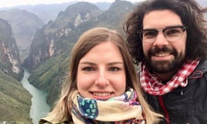 Evie Hirst and Jim Moston on holiday in Vietnam in December 2018.