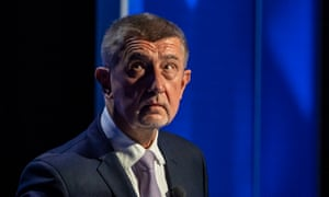 Czech Prime Minister and leader of the ANO movement, Andrej Babiš at television debate for the parliamentary elections
