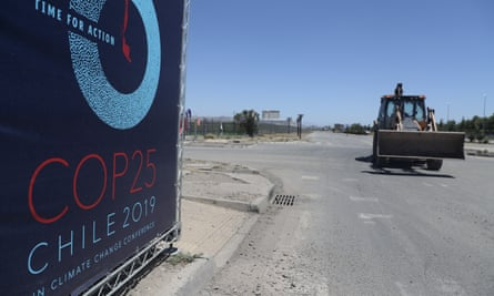 The site in Santiago, Chile, that had been due to host the COP25 UN climate conference