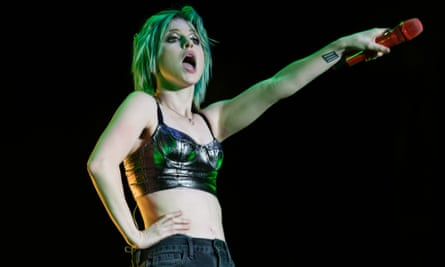 Hayley Williams on stage at Reading festival in 2014
