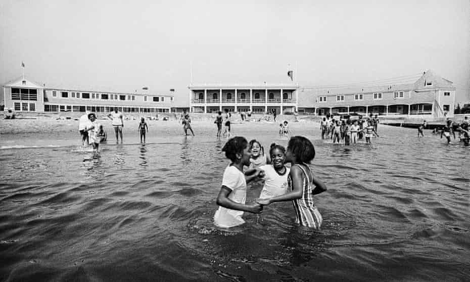 Children from Hartford, Connecticut, stage a 'wade-in' at a private beach in the town of Madison, Connecticut, to protest exclusionary policies that had rendered nearly all of the state's shoreline inaccessible to the general public.