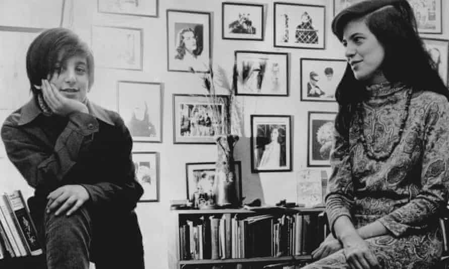 Susan Sontag with her son. David, in 1967.