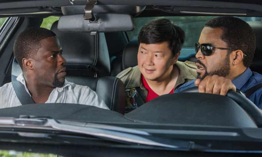 Kevin Hart, Ken Jeong and Ice Cube in Ride Along 2.