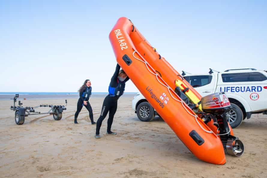 During the fitness test, lifeguards must showcase their strength and ability to perform set tasks with the RNLI apparatus, such as lifting an IRB (inshore rescue boat) for 10 seconds.