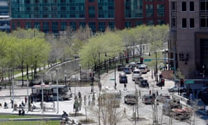 A view of Rose Fitzgerald Kennedy Greenway, Boston – site of the Big Dig.