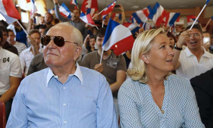 Jean-Marie and Marine Le Pen