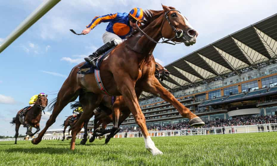 Ryan Moore and Love race to victory at Ascot in the Prince of Wales's Stakes in June.