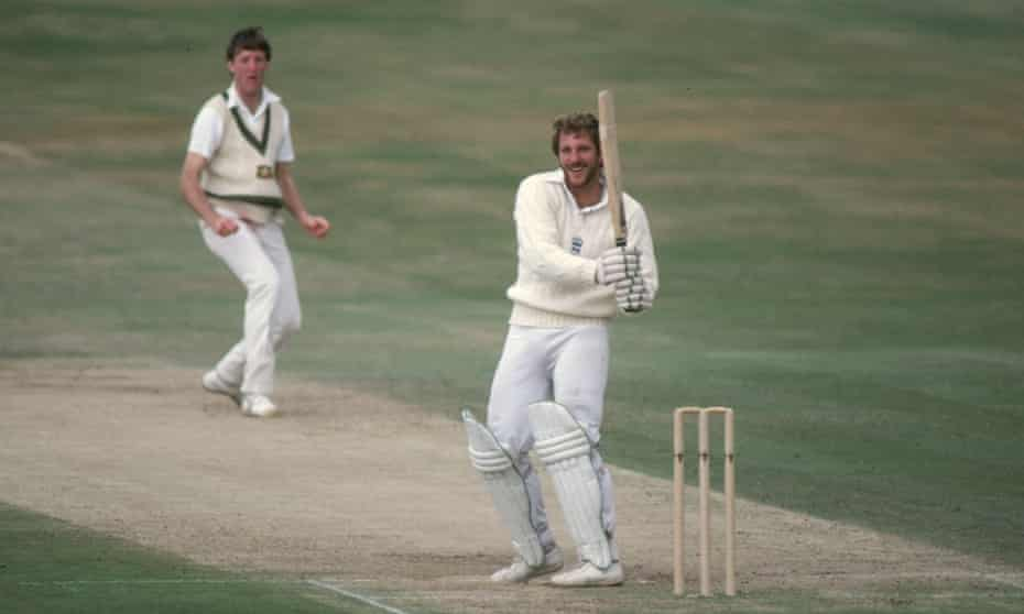 Ian Botham batting, right, with Geoff Lawson of Australia during the 3rd Test at Headingley in 1981