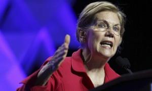 Elizabeth Warren speaks at the 2018 Massachusetts Democratic Party Convention on 1 June in Worcester, Massachusetts.