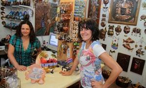 A shop in the Los Dominicos Handicraft Village