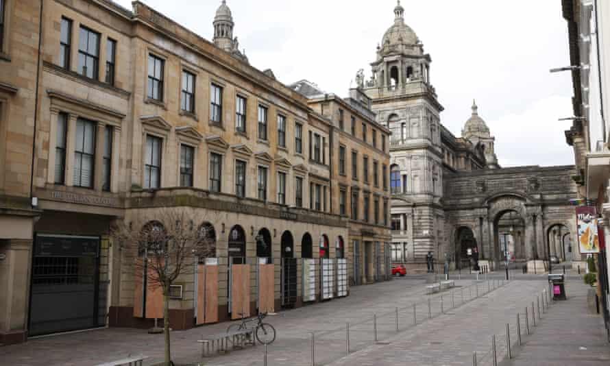 A deserted Glasgow after the coronavirus lockdown.