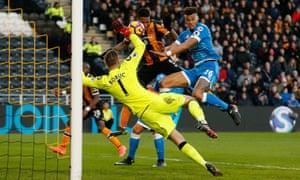 Abel Hernandez gets Hull City back on level terms.