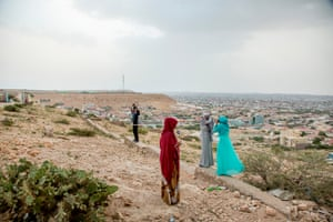 Girls in the city of Hargeisa in Somaliland