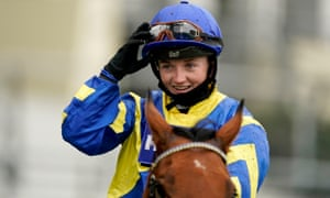 Hollie Doyle after winning the Champions Long Distance Cup at Ascot on Trueshan.