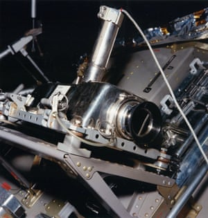 Because of a lack of space, Stan Lebar's TV camera had to be mounted upside down in Apollo 11's lunar module stowage bay.