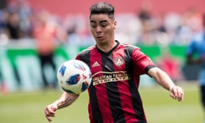 Miguel Almirón in action for Atlanta United, whom he joined in 2016.