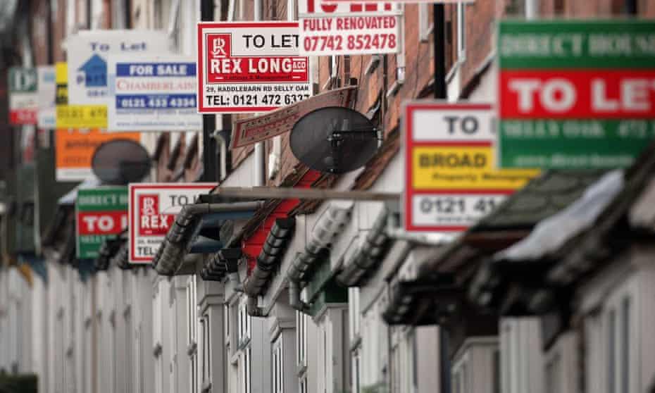 Flat rental signs in Birmingham