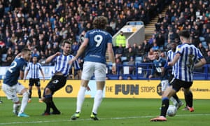 Lewis Holtby of Blackburn Rovers opens the scoring in Hillsborough.