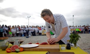 Jamie Oliver on NBCs Today show in Miami Beach, 2008