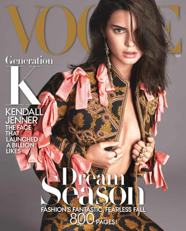 Kendall Jenner on the cover of Vogue.