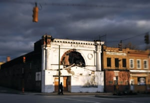 Fulton, 1563 North Fulton Avenue, 2012. The church which owned the Fulton abandoned the theater after a fire in 2007. The former Fulton was razed by the city in early 2017