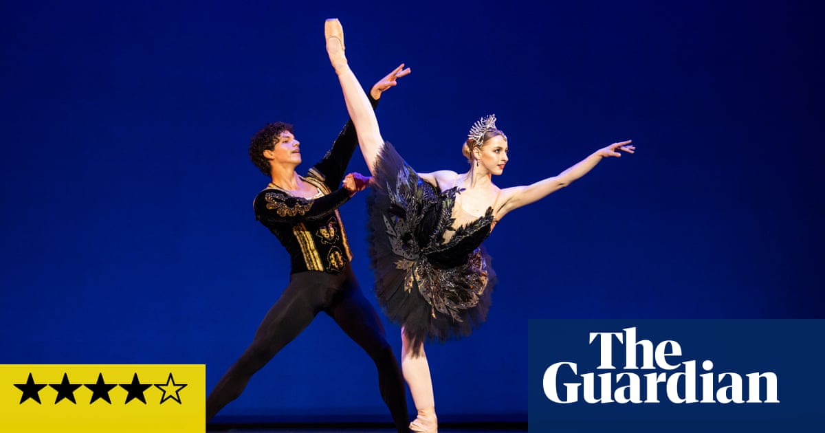 English National Ballet: Solstice review – smitten swans, chiseled abs and thumping techno