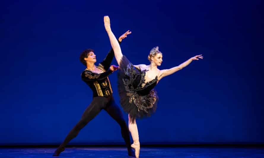 Deliciously wicked ... Natascha Mair and Isaac Hernández in Swan Lake (black swan pas de deux) from Solstice by English National Ballet.