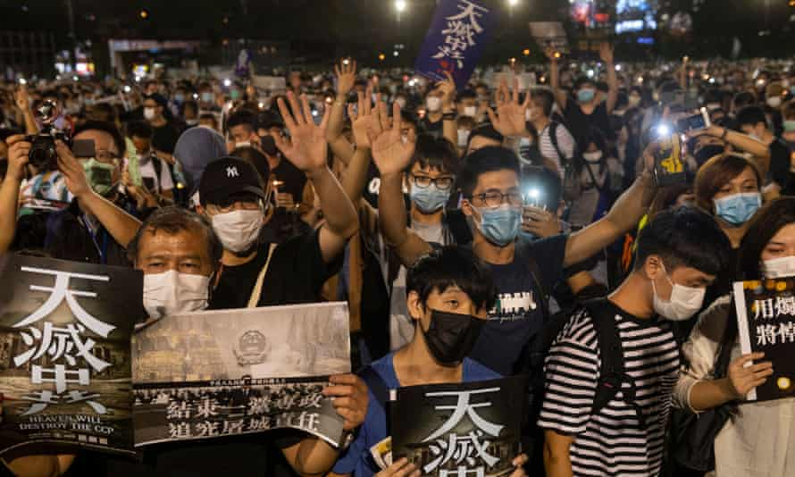 A vigil is held in Hong Kong on the anniversary of the 1989 Tiananmen square crackdown.