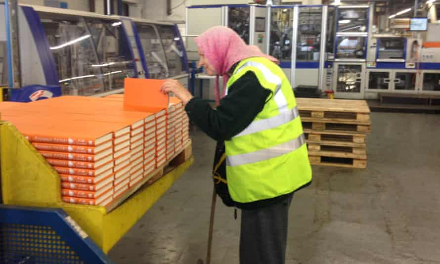 Laura, writer of the diaries found in a skip by Alexander Masters' friends, watches her biography being printed