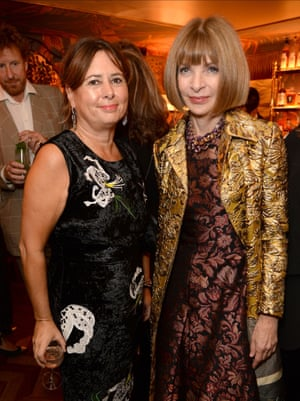 Alexandra Shulman and US Vogue editor Anna Wintour at the launch of Vogue – Voice of a century in London last September.